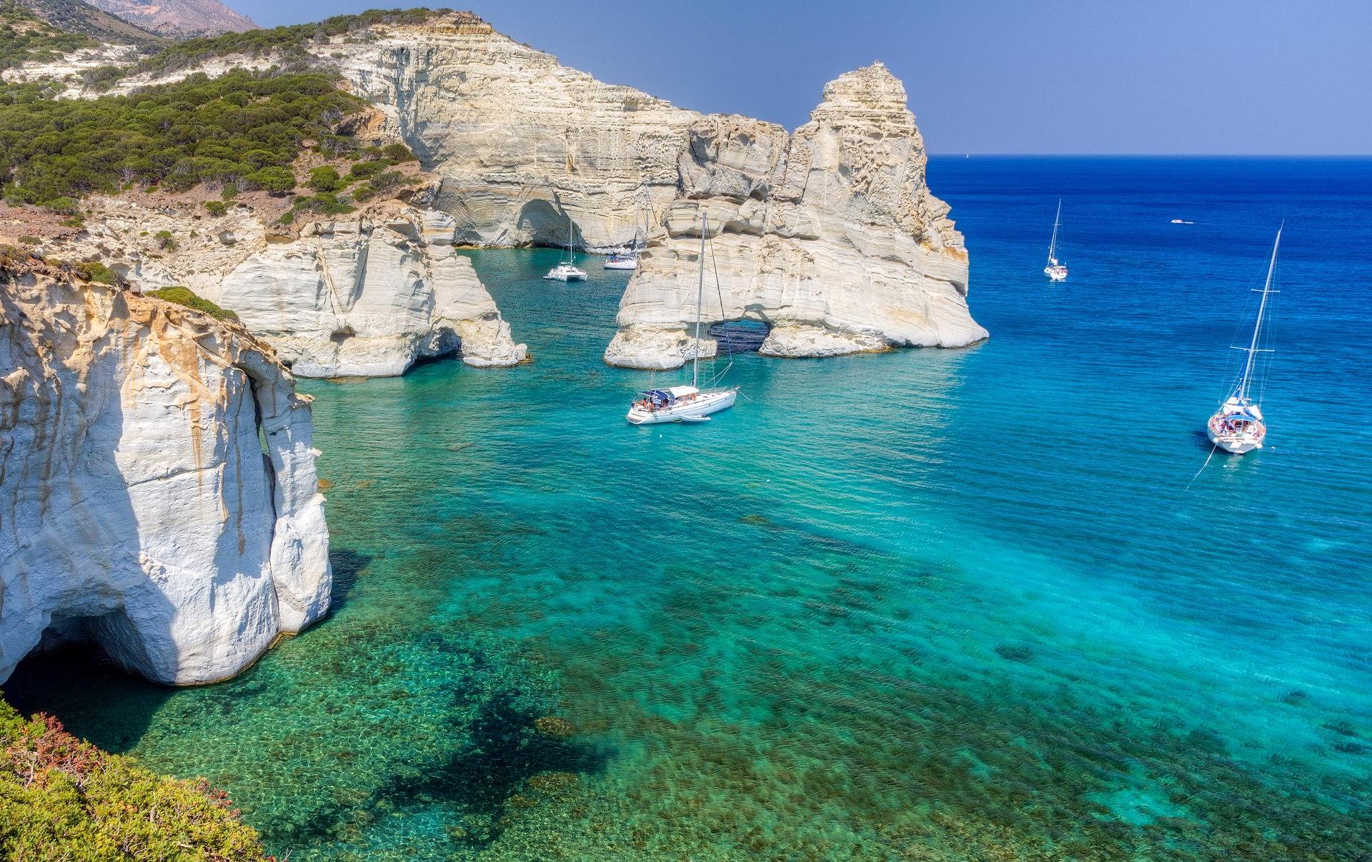 Kleftiko Milos island Cyclades Greece